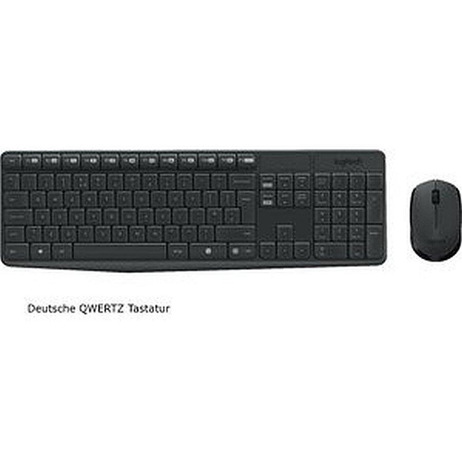 Logitech Tastatur und Maus-Set MK235 schwarz QWERTZ Wireless