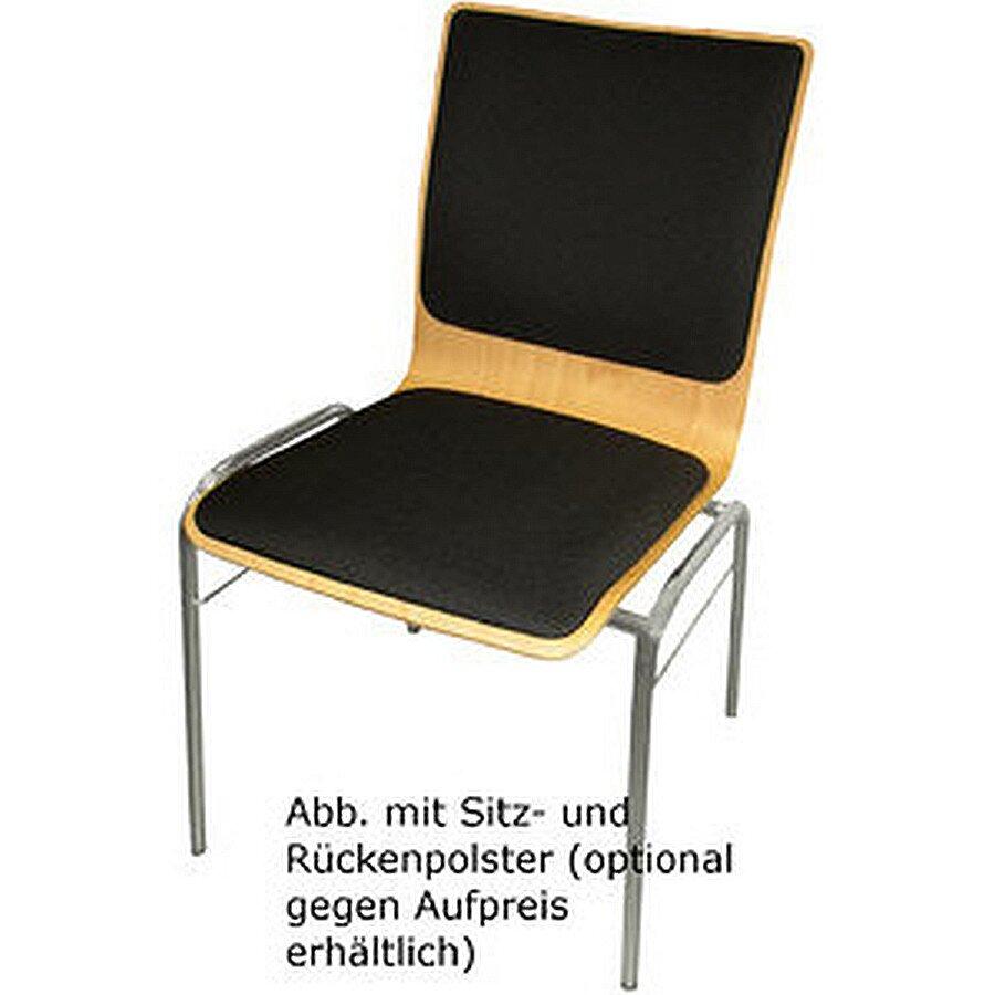 Nowy Styl Holzschalenstuhl Wing V buche 50x49x85,5 chrom