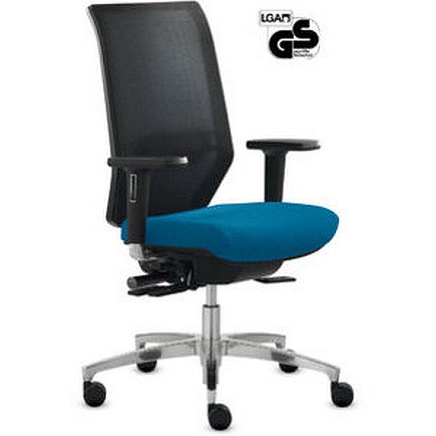 Dauphin Bürostuhl Shape Mesh mit blau harte Rollen