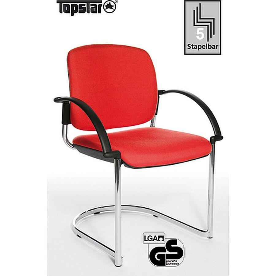 Topstar Besucherstuhl Visitor Open Chair 40 rot Freiwinger