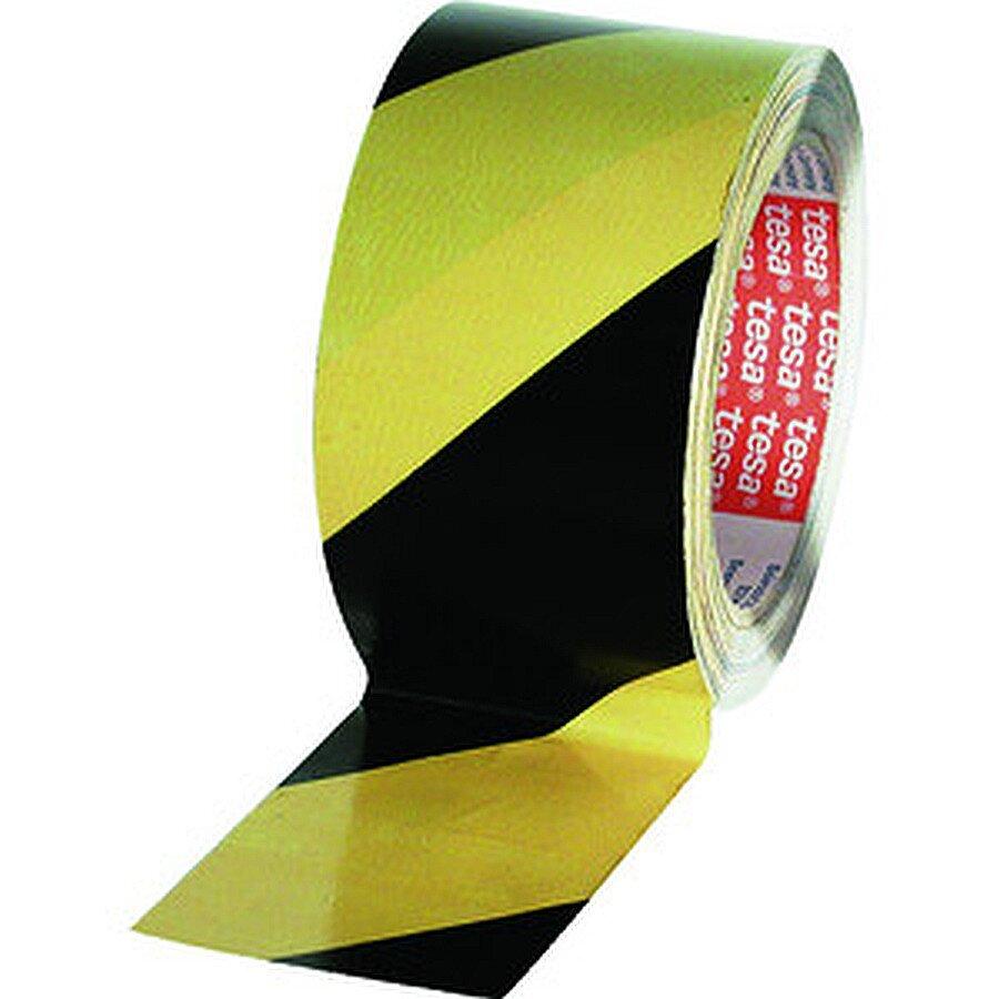 Tesa Warnstreifen Gewebeband schwarz/gelb 50 mm x25m