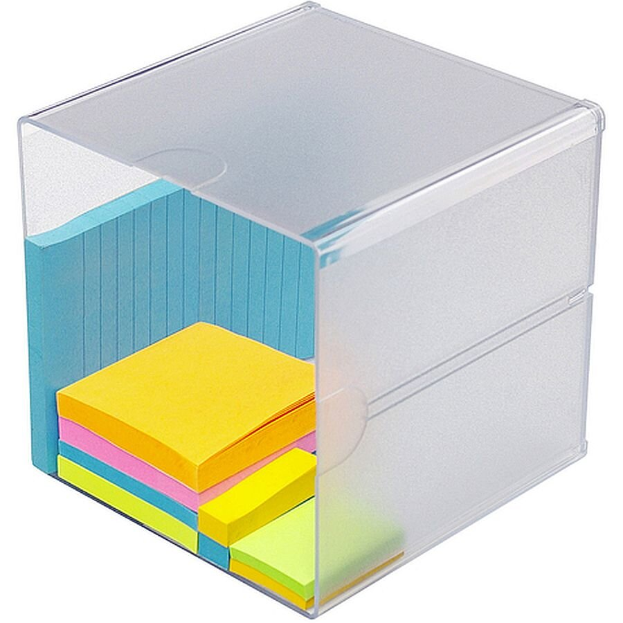 deflecto Organiser-System CUBE kristall ohne Schubl.
