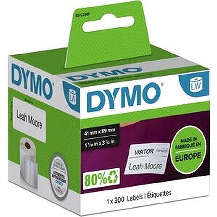 Dymo Namensschilder wieder ablösbar weiß 89 x 41mm 300 Stück