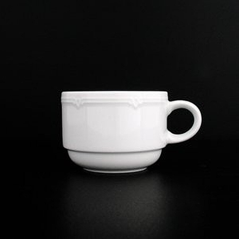 Eschenbach Porzellan Tasse Minoa niedrig weiß 0,18l