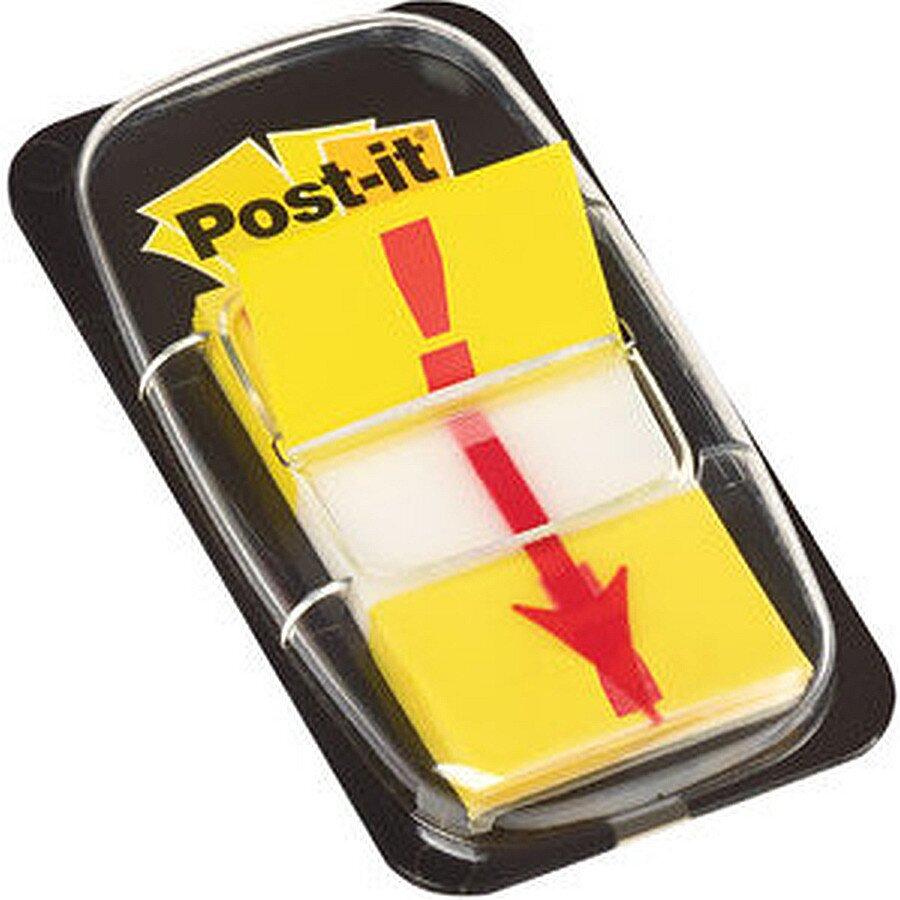 Post-it Haftstreifen mit Ausrufezeichen gelb 25,4x43,2mm 50 Blatt