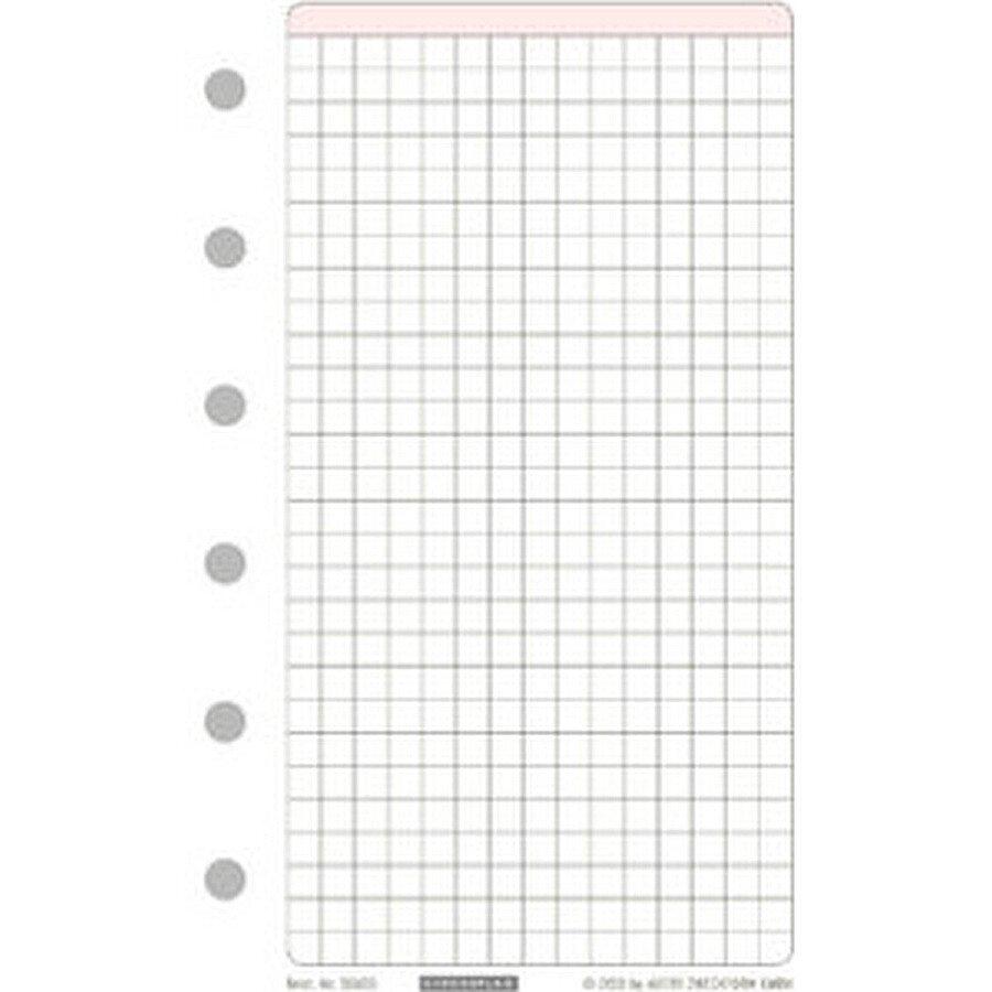 Chronoplan Papier kariert 80 g weiß Mini 25 Bl