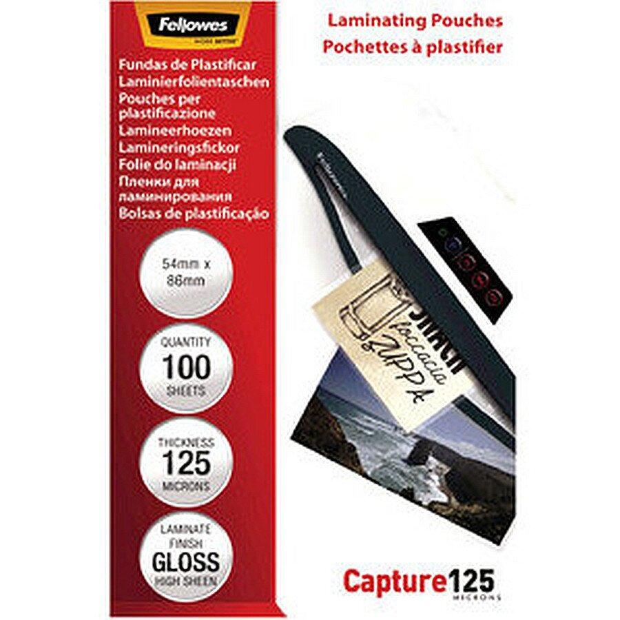 Fellowes Laminiertasche für Kreditkarte 0,125mm 54x86mm 100 St