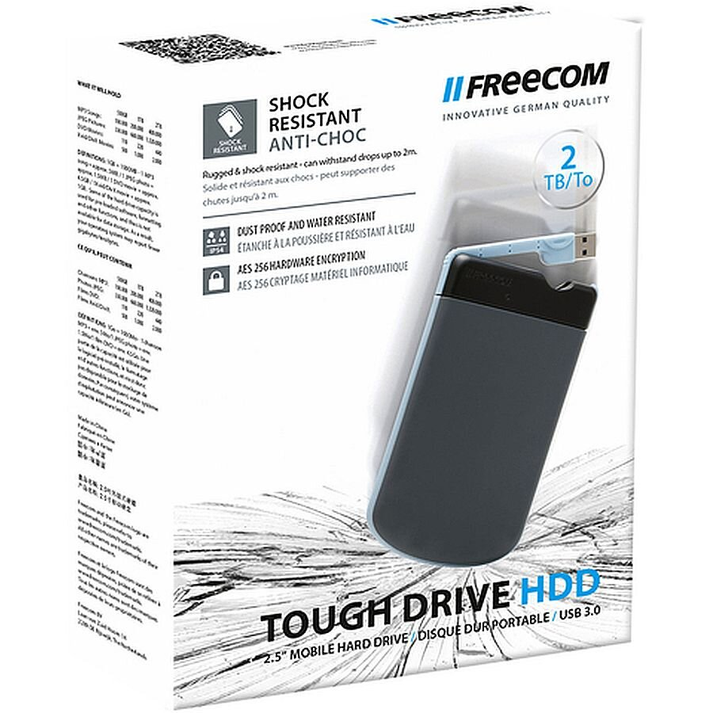 Freecom Festplatte ToughDrive USB 3.0 grau/hbl 2 TB extern