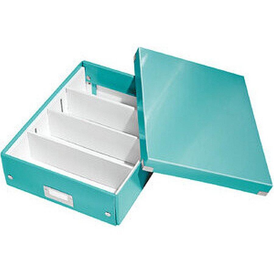Leitz Organisationsbox C&S WOW mittel eisblau 280x370x35